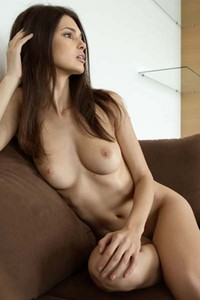 Hot babe Jasmine A takes off her black underwear revealing her hot body