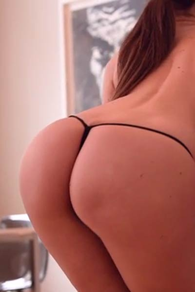 Petite Fedra flaunts her firm round ass erotically