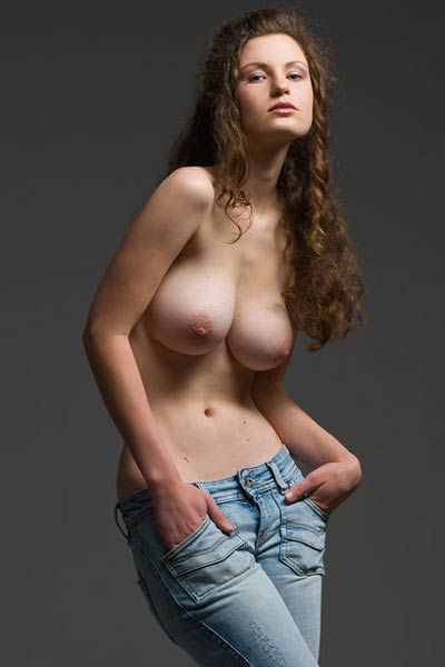 Sexy Susann took off her jeans and her top so she can show you her big jugs