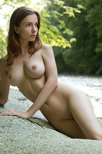 Everytime when this hottie is free she goes by the river gets naked and enjoy the life