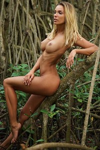 Amazing young big titted lady is already naked waiting for you to join her