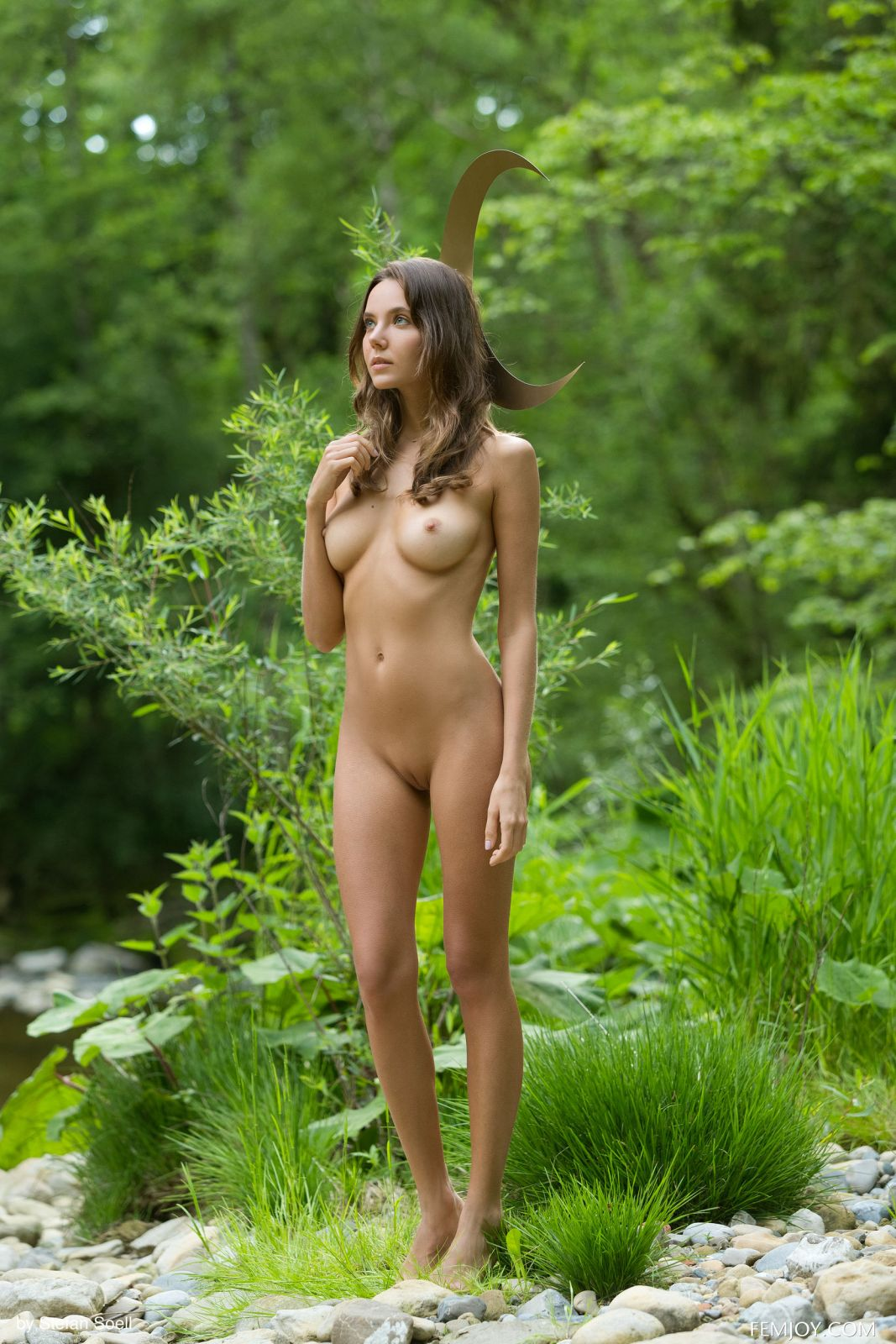 Nude In The Woods