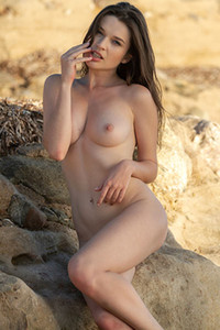 Serena J presents us her gorgeous boobs and meaty pussy with style