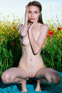 An attractive lady presents us her seductive posing skills and amazing slim fit body